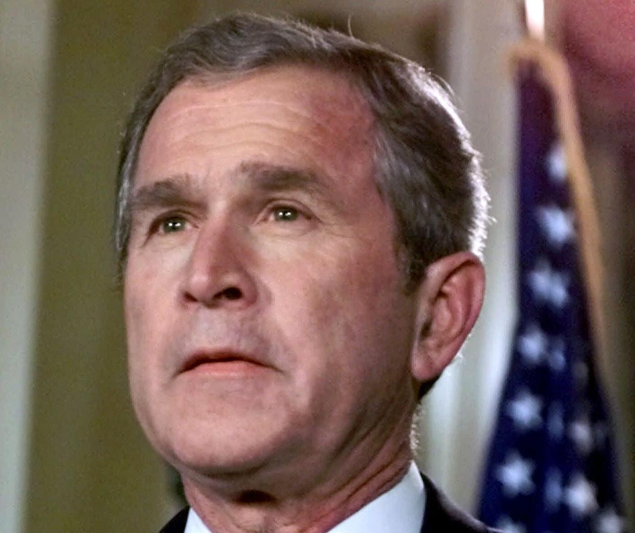 """<strong>""""I know the human being and fish can coexist peacefully."""" </strong> -- September 2000, explaining his energy policies at an event in Michigan. <a href=""""http://www.huffingtonpost.com/2009/01/03/bushisms-over-the-years_n_154969.html"""" rel=""""nofollow noopener"""" target=""""_blank"""" data-ylk=""""slk:Source: The Associated Press"""" class=""""link rapid-noclick-resp"""">Source: The Associated Press</a> (AP Photo/Eric Gay, File)"""