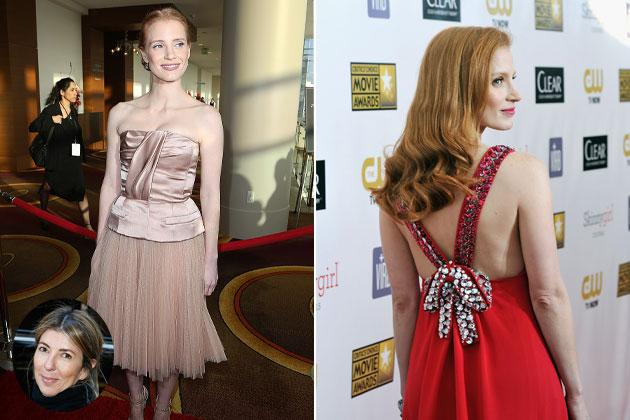 """Nina Garcia, editor, style expert, judge on """"Project Runway"""" - """"Jessica Chastain! I'm obsessed with redheads, and she's the redhead."""""""