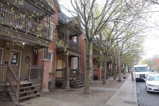 The homes on Osgoode Street in Ottawa's Sandy Hill neighbourhood have been deemed unsafe by city officials.