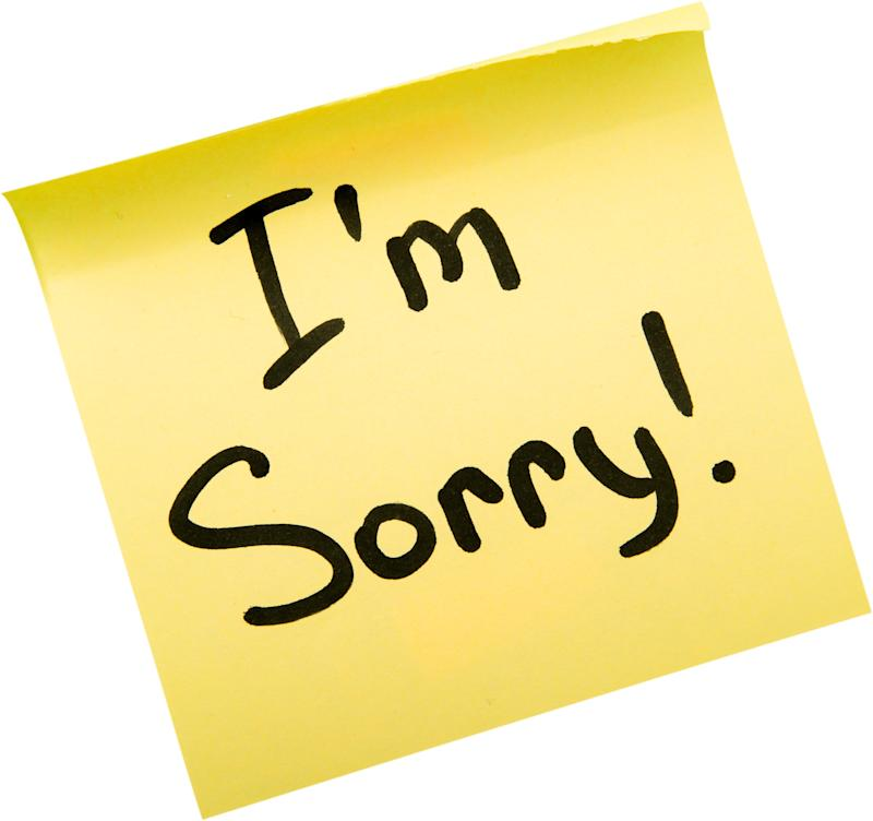 Sorry >> A Lot Of People Need To Say Sorry