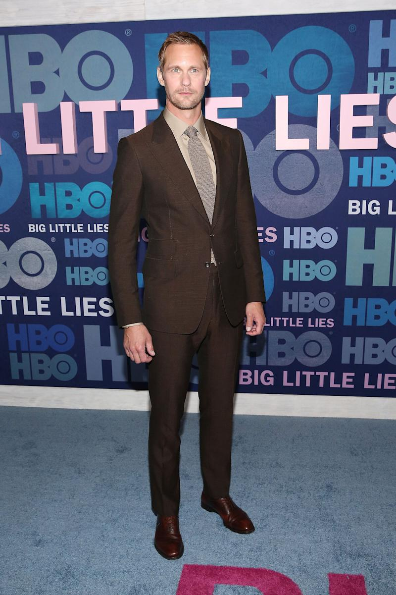 """NEW YORK, NEW YORK - MAY 29: Alexander Skarsgard attends the """"Big Little Lies"""" Season 2 Premiere at Jazz at Lincoln Center on May 29, 2019 in New York City. (Photo by Monica Schipper/FilmMagic)"""