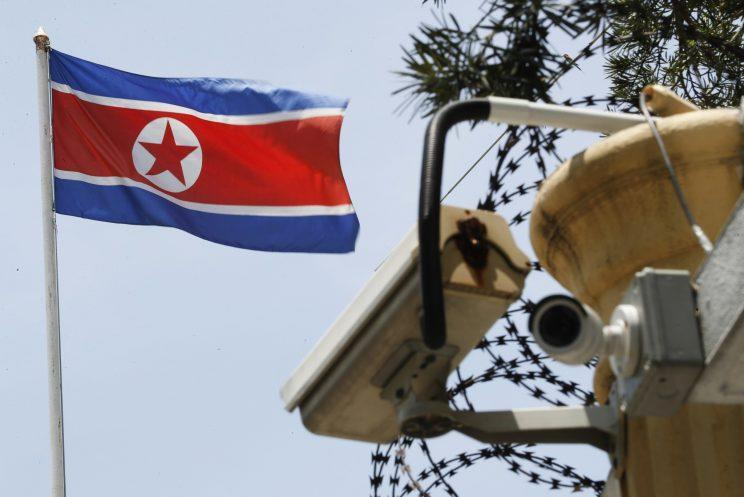 Barbed wire at the heavily fortified North and South Korea border (Rex)