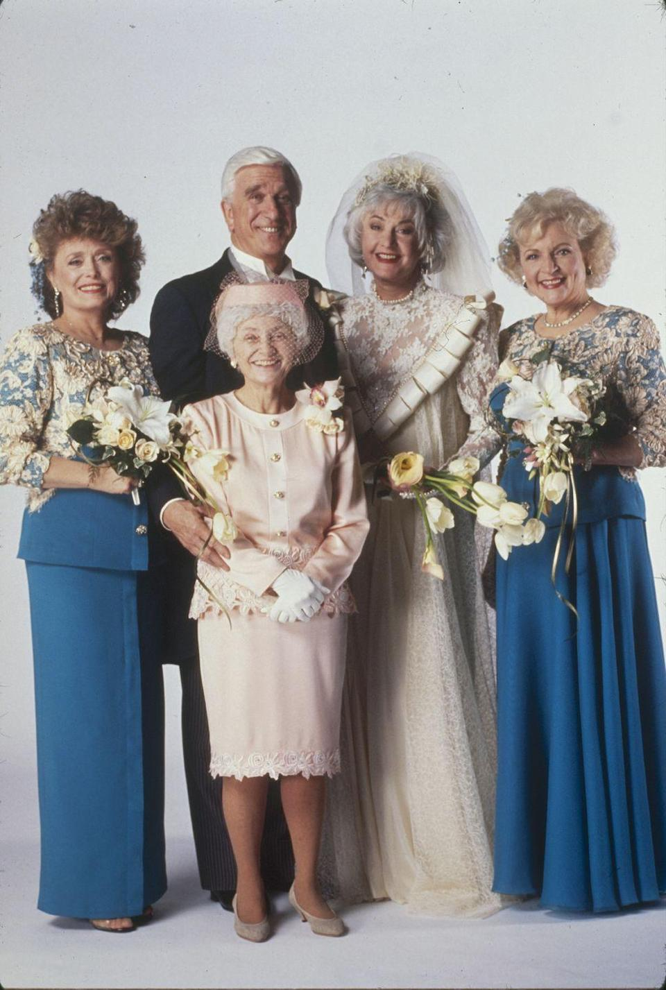 """<p>In 1992, <em>The Golden Girls</em> ended when<a href=""""https://www.countryliving.com/life/entertainment/a44957/betty-white-and-bea-arthur-feud/"""" rel=""""nofollow noopener"""" target=""""_blank"""" data-ylk=""""slk:Arthur announced"""" class=""""link rapid-noclick-resp""""> Arthur announced</a> that she wanted to leave the show. White, McClanahan, and Getty did a spin-off called <em>The Golden Palace</em>, but that only lasted one season. </p>"""