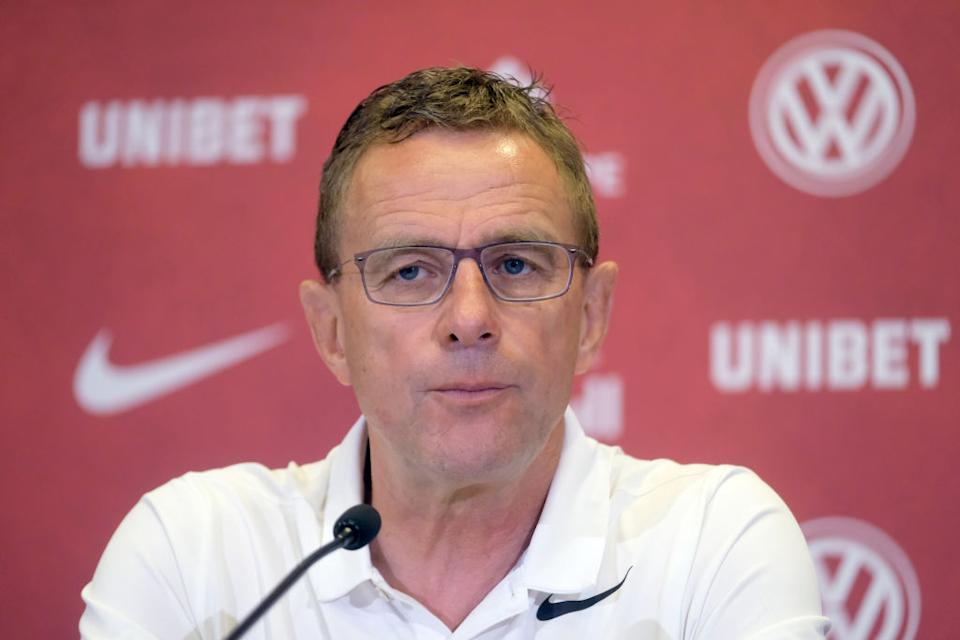 FILED - 04 June 2019, Saxony, Leipzig: Football, Bundesliga, RB Leipzig: Leipzig's former coach Ralf Rangnick at a press conference.  (to dpa: