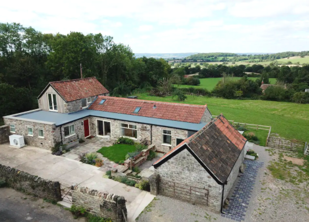 "<p>Taking the seventh spot is this gorgeous 18th century barn, situated in the glorious Gloucestershire <a href=""https://www.housebeautiful.com/uk/lifestyle/property/a35935761/affordable-rural-places-buy-home-uk/"" rel=""nofollow noopener"" target=""_blank"" data-ylk=""slk:countryside"" class=""link rapid-noclick-resp"">countryside</a>. Not only will guests get the whole barn to themselves, but they'll also be able to enjoy the wonderful open-plan living space, spectacular views over the Severn Vale, and dreamy outdoor terrace. </p><p><a class=""link rapid-noclick-resp"" href=""https://airbnb.pvxt.net/GjmzrE"" rel=""nofollow noopener"" target=""_blank"" data-ylk=""slk:BOOK NOW"">BOOK NOW</a></p>"