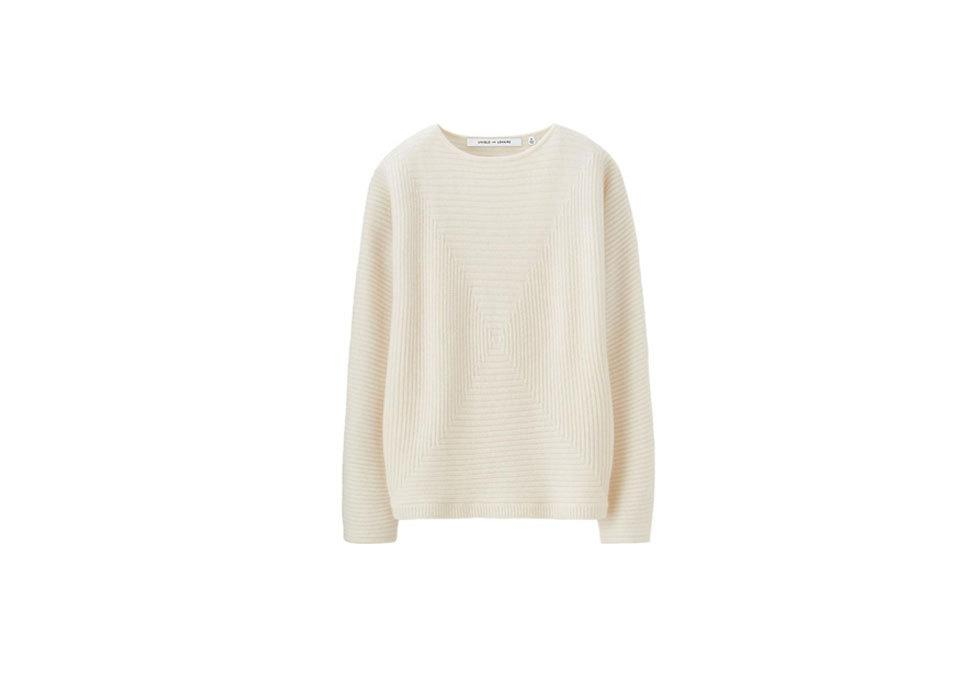 """<p>Cashmere Blended Square Sweater, $70, <a href=""""http://www.uniqlo.com/us/product/women-lemaire-cashmere-blended-square-sweater-151958.html#69"""">uniqlo.com</a><br /><br /></p>"""