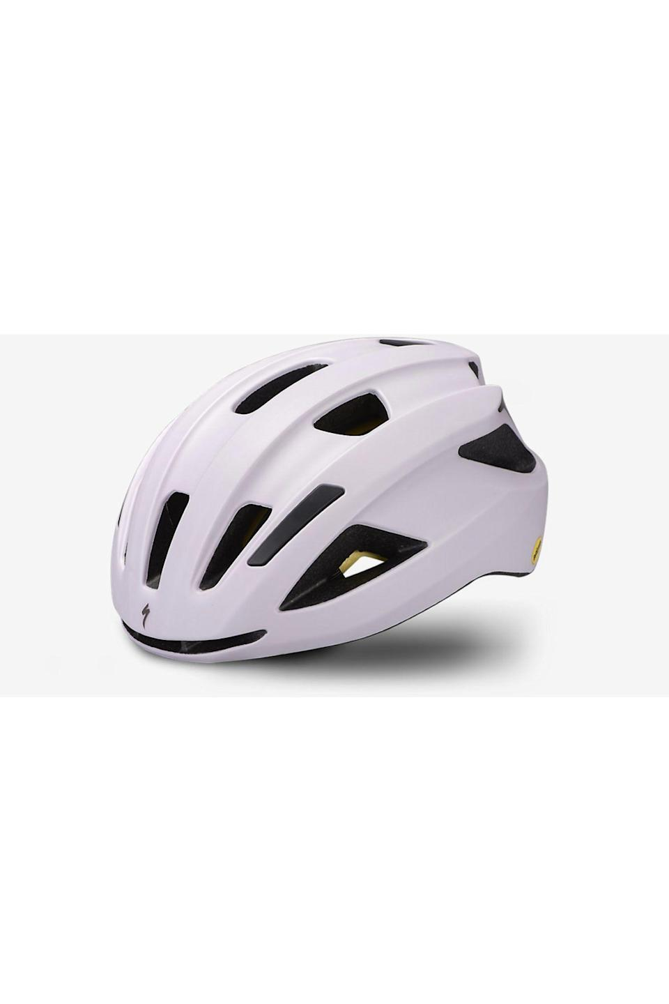 """<p><strong>Specialized</strong></p><p>specialized.com</p><p><strong>$50.00</strong></p><p><a href=""""https://www.specialized.com/us/en/align-ii/p/186472?color=297725-186472&searchText=60821-0002"""" rel=""""nofollow noopener"""" target=""""_blank"""" data-ylk=""""slk:Shop Now"""" class=""""link rapid-noclick-resp"""">Shop Now</a></p><p>According to the site, this is the only $50 helmet to earn the highest 5-star rating from """"independent testing done at the renowned Virginia Polytechnic Institute and State University."""" Impressive, right? So you'll get great value from this purchase, and you'll also look cute with its minimal shape and fun colors. </p>"""