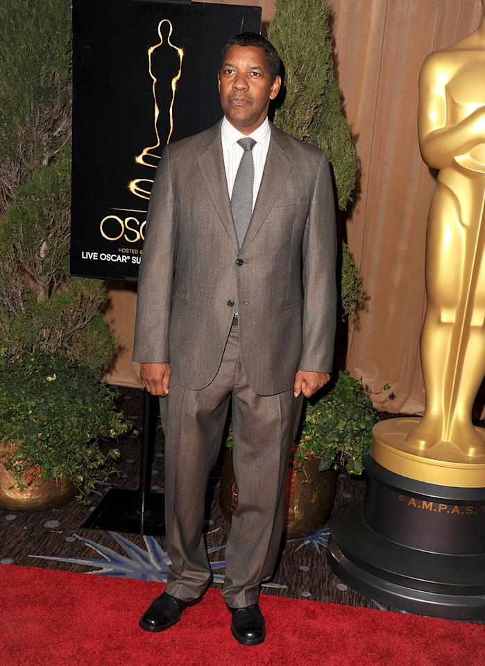 Denzel Washington attends the 85th Academy Awards Nominees Luncheon at The Beverly Hilton Hotel on February 4, 2013 in Beverly Hills, California.  (Photo by Steve Granitz/WireImage)