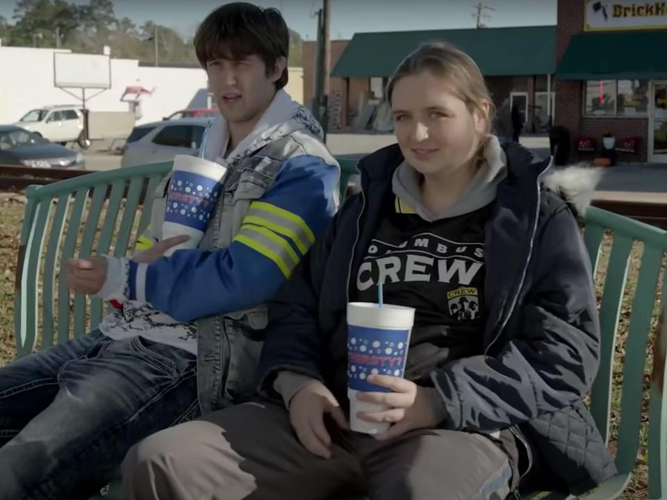Sam Straley and Chelsea Holmes in Welcome to Flatch (Fox)