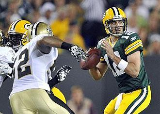 Aaron Rodgers generally had enough time to locate his targets