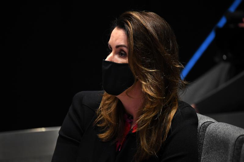 Political commentator Peta Credlin once again at the heart of questioning at Daniel Andrew's daily press conference. Source: AAP