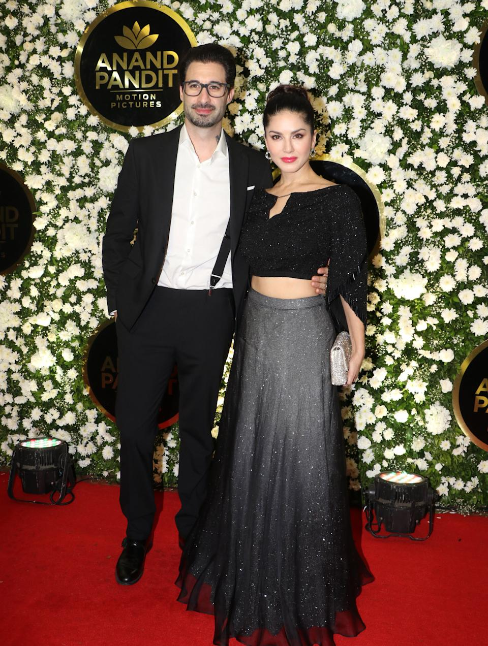 Sunny Leone looked gorgeous in this fusion wear as she posed with her husband Daniel Webber