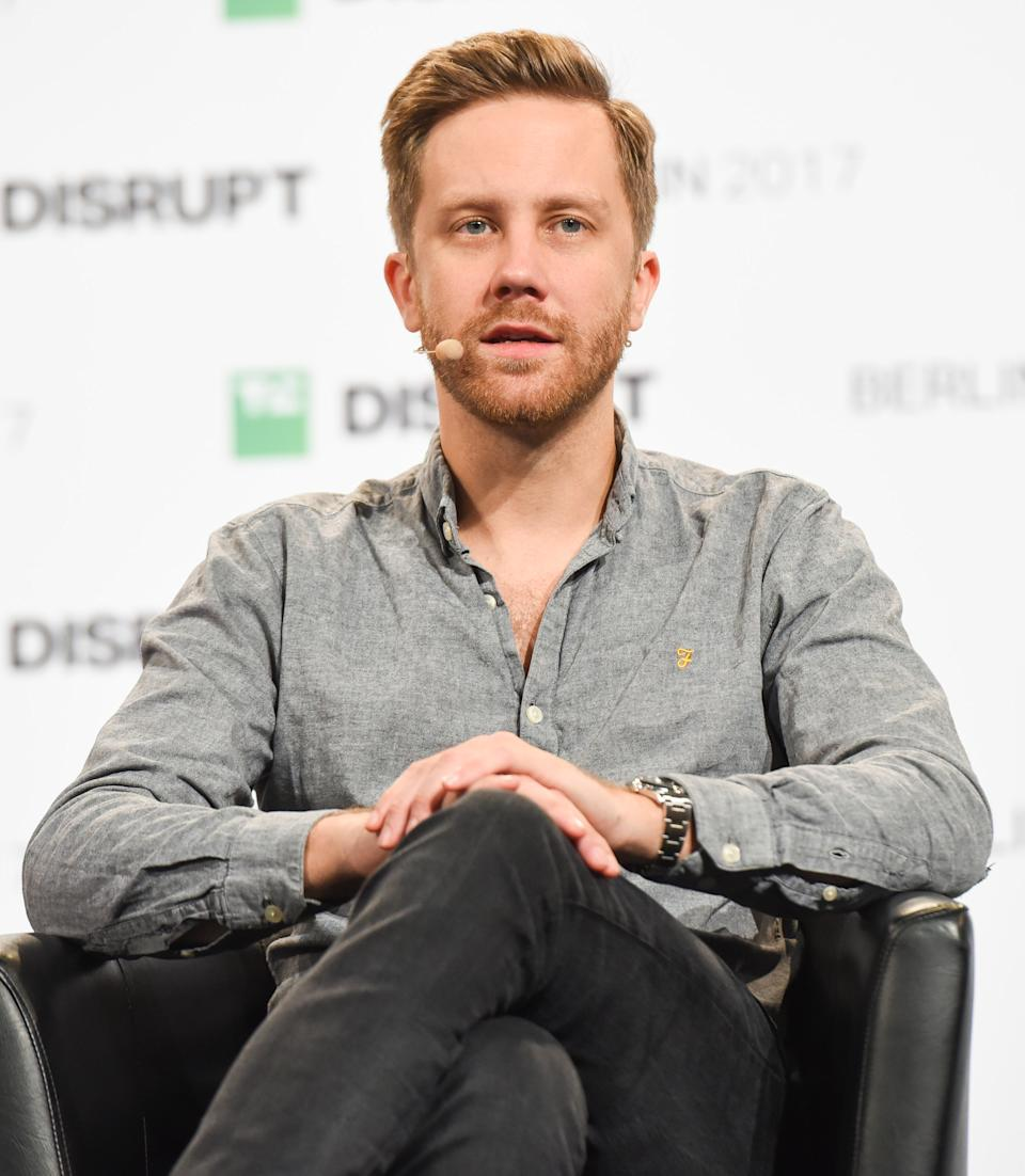 BERLIN, GERMANY - DECEMBER 05:  Monzo CEO Tom Blomfield talks at TechCrunch Disrupt Berlin 2017 at Arena Berlin on December 4, 2017 in  (Photo by Noam Galai/Getty Images for TechCrunch,)
