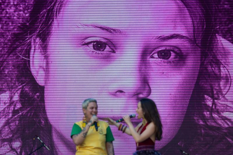 Imagen de Greta Thunberg en el festival Rock in Rio. (MAURO PIMENTEL/AFP via Getty Images)
