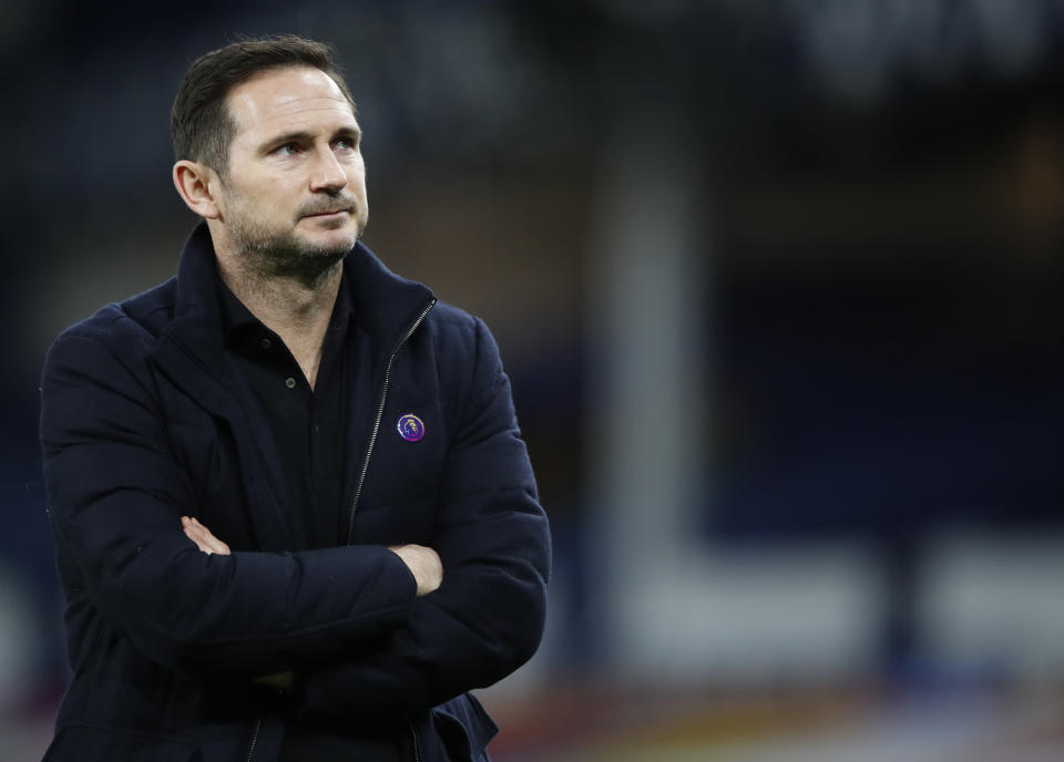 Frank Lampard, hallowed former Chelsea star himself is the latest victim of the club's short-termism. (Clive Brunskill/Pool via AP, File)