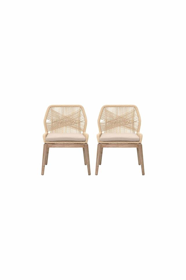 """<p><strong></strong></p><p>onekingslane.com</p><p><a href=""""https://www.onekingslane.com/p/4648252-set-of-2-loom-side-chairs-natural.do"""" target=""""_blank"""">Shop Now</a></p><p><em>$660 for two (originally $825) </em></p><p>Upgrade your dining space for the season with this stylish set of rattan chairs. </p>"""