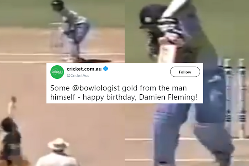 Cricket Australia's Cheeky Birthday Wish For Damien Fleming Has Left Tendulkar Fans Fuming