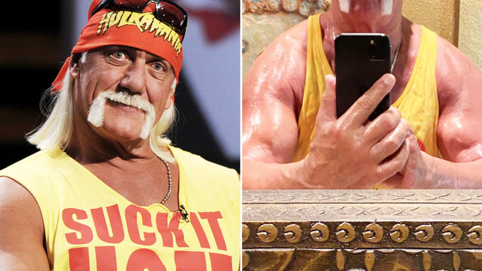 Hulk Hogan, pictured here after a gym session.