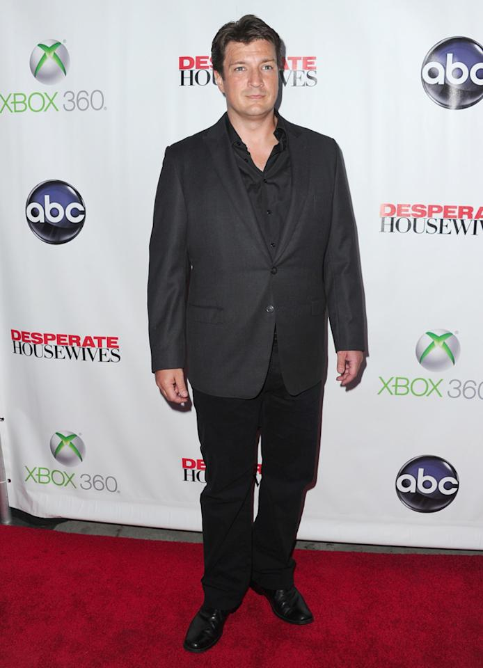 """Nathan Fillion attends the """"<a target=""""_blank"""" href=""""http://tv.yahoo.com/desperate-housewives/show/36265"""">Desperate Housewives</a>"""" Series Finale Party at the W Hollywood on April 29, 2012 in Hollywood, California."""