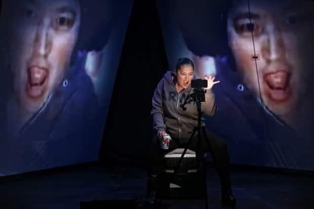 Deer Womanis a single-performer play that was adapted to video as a result of the COVID-19 pandemic. It tells the story of a murdered Blackfoot woman through the eyes of her sister Lila, played by Blackfoot artist Cherish Violet Blood.