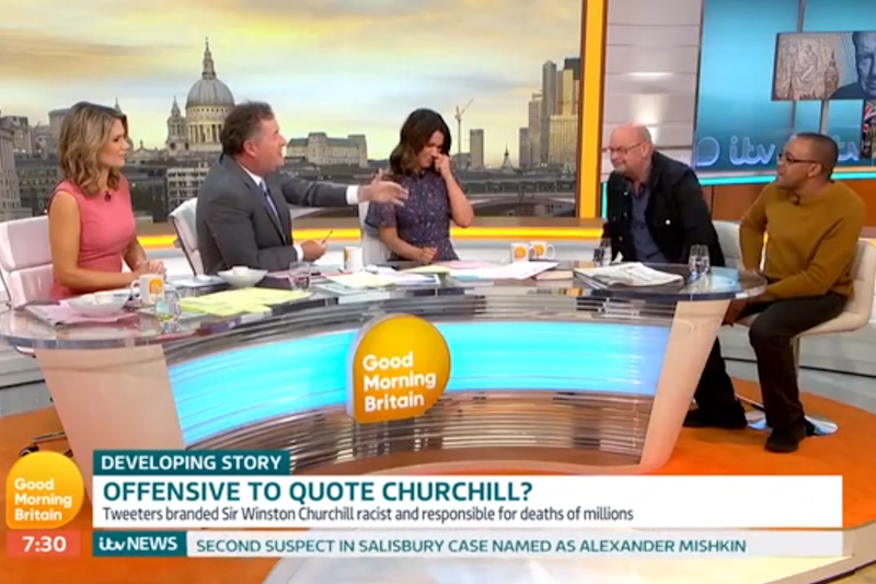Piers Morgan praised Churchill's role in defeating Hitler (GMB)