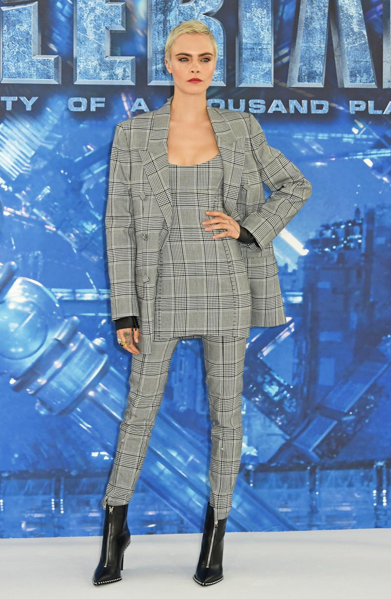 Plaid perfection. (David M. Benett via Getty Images)