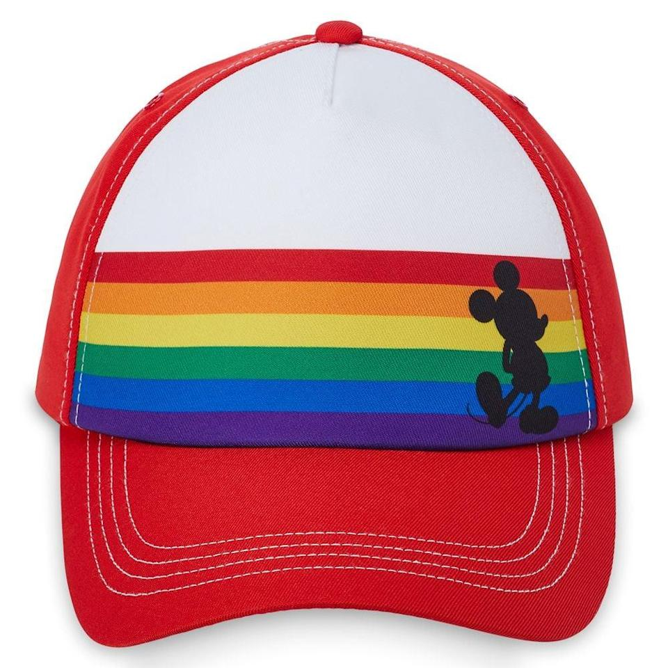 <p>The black Mickey Mouse silhouette on this <span>Mickey Mouse Baseball Cap For Adults</span> ($28) is so cool. </p>