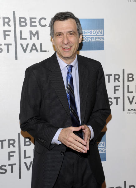 "FILE - This April 25, 2012 file photo shows journalist Howard Kurtz at the world premiere of ""Knife Fight"" during the 2012 Tribeca Film Festival in New York. Kurtz has left online news and commentary site The Daily Beast, a day after the website retracted one of his blog posts about the coming out of NBA player Jason Collins. Both Kurtz and Daily Beast editor-in-chief Tina Brown confirmed his departure over Twitter. Kurtz did not acknowledge any link between the retraction and his departure. He tweeted that ""we began to move in different directions, both sides agreed it was best to part company."" (AP Photo/Evan Agostini, file)"