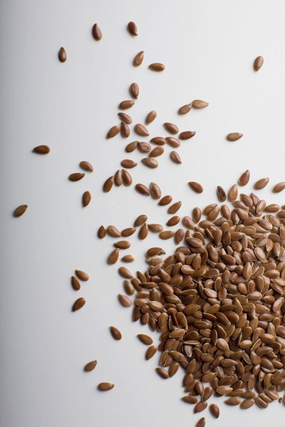 """<p>Flaxseed is loaded with plant omega-3s, which are good for your heart health, according to <a href=""""https://www.webmd.com/diet/features/benefits-of-flaxseed#1"""" rel=""""nofollow noopener"""" target=""""_blank"""" data-ylk=""""slk:WebMD"""" class=""""link rapid-noclick-resp"""">WebMD</a>. Store ground flaxseed in your refrigerator and sprinkle on yogurt, cold cereal, oatmeal, or avocado toast.</p><p><strong>Recipe to try:</strong> <a href=""""https://www.womansday.com/food-recipes/food-drinks/recipes/a39483/pineapple-ginger-walnut-oatmeal-recipe-clv0314/"""" rel=""""nofollow noopener"""" target=""""_blank"""" data-ylk=""""slk:Pineapple, Ginger, and Walnut Oatmeal"""" class=""""link rapid-noclick-resp"""">Pineapple, Ginger, and Walnut Oatmeal</a></p><p><strong>What you'll need</strong>: Flaxseed ($8, <a href=""""https://www.amazon.com/Spectrum-Essentials-Organic-Ground-Flaxseed/dp/B00DOKFLYI/?tag=syn-yahoo-20&ascsubtag=%5Bartid%7C10070.g.2211%5Bsrc%7Cyahoo-us"""" rel=""""nofollow noopener"""" target=""""_blank"""" data-ylk=""""slk:amazon.com"""" class=""""link rapid-noclick-resp"""">amazon.com</a>)</p>"""