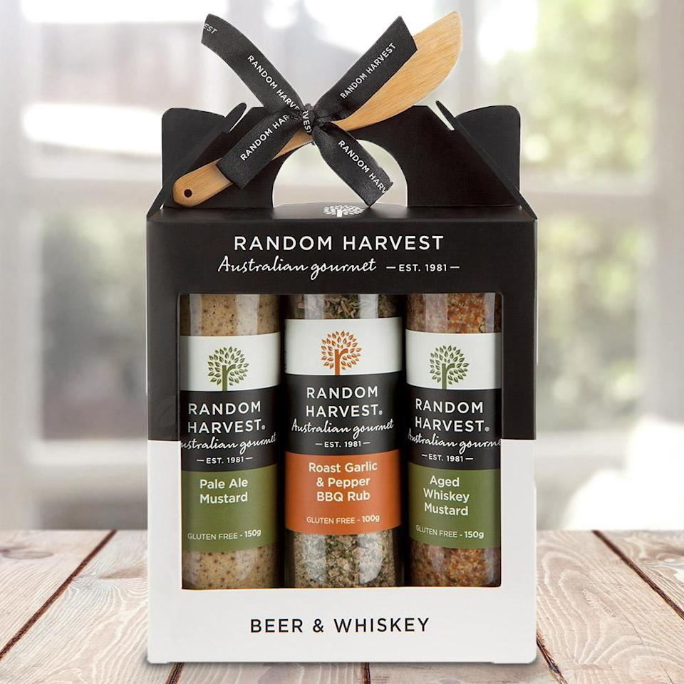 beer and whiskey BBQ condiments set, $39.99,