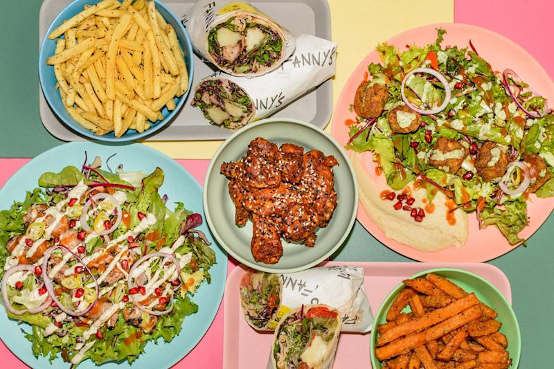 Quite the spread: Fanny's Kebabs is one of the 11 food traders at Market Hall West End