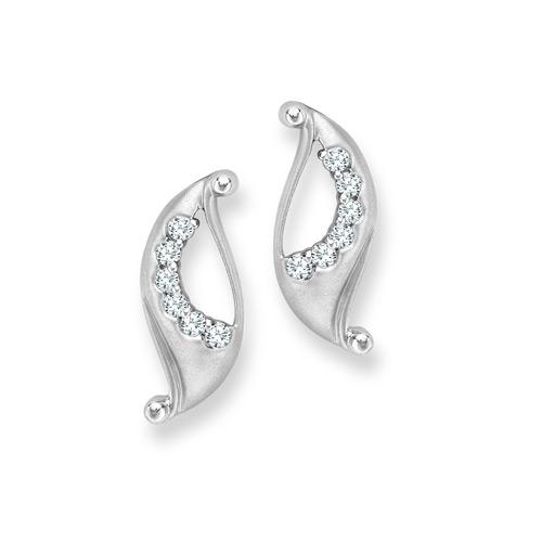 """Did you know women often keep names for their favourite piece of jewellery? We want to know what you would call these beautiful matt finished platinum earrings with prong set diamonds. (Pt weight :4.94gms, Diamond wt:0.32cts)<br><br>Price range - 30-50k<br><br>To find an authorized Platinum retailer, <a target=""""_blank"""" href=""""http://ad.doubleclick.net/clk;264617348;90301384;i"""">click here.</a>"""