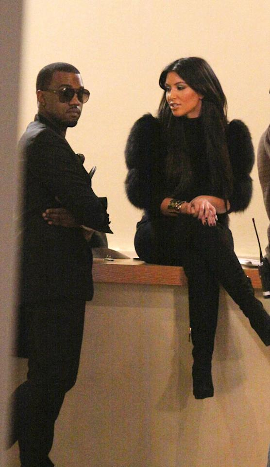 """Kim Kardashian first befriended hip-hop superstar Kanye West last year when she needed help recording her pop album and shooting her video. However, before she even got into the recording studio the two had been spotted canoodling around New York and even spending Kim's 30th birthday together. Though Kim has remained coy about the rumored romance, Kanye hinted at it during a radio interview and eventually Kim's sister Khloe blurted out during a live red carpet interview in January that the two were, ahem, getting together. Apparently, the fling didn't last long since Kim has not only moved on but is already engaged to someone else -- NBA player Kris Humphries. Jose Perez/<a href=""""http://www.splashnewsonline.com"""" target=""""new"""">Splash News</a> - October 4, 2010"""