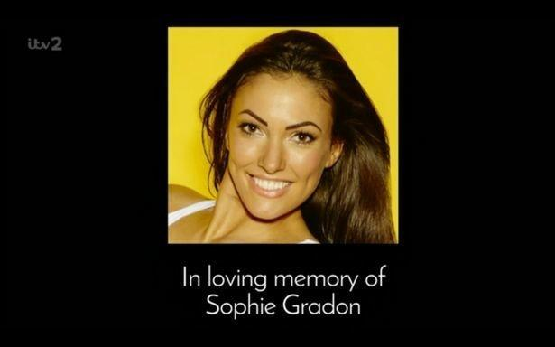 'Love Island' aired a dedication to Sophie on Thursday