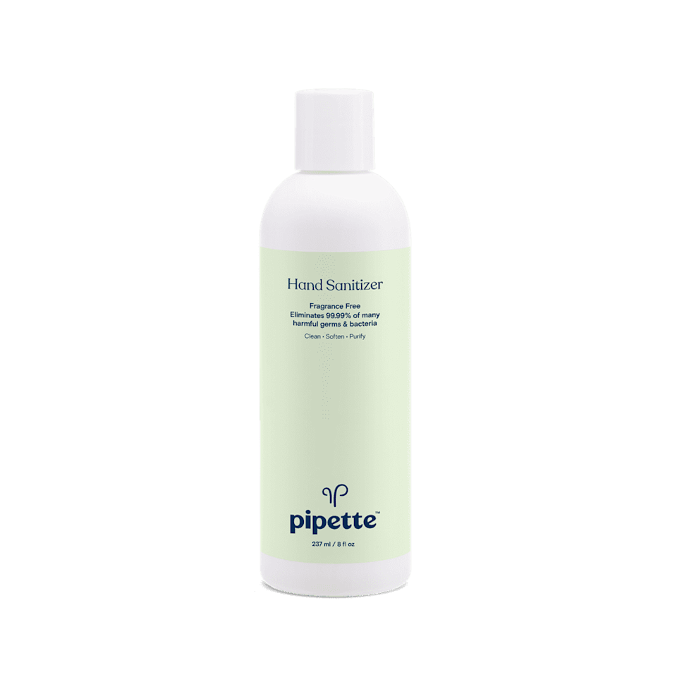 """<p>This <a href=""""https://www.popsugar.com/buy/Pipette-Hand-Sanitizer-569738?p_name=Pipette%20Hand%20Sanitizer&retailer=pipettebaby.com&pid=569738&price=5&evar1=savvy%3Aus&evar9=47434237&evar98=https%3A%2F%2Fwww.popsugar.com%2Fsmart-living%2Fphoto-gallery%2F47434237%2Fimage%2F47434253%2FPipette-Hand-Sanitizer&list1=shopping%2Csoap%2Ccoronavirus&prop13=api&pdata=1"""" class=""""link rapid-noclick-resp"""" rel=""""nofollow noopener"""" target=""""_blank"""" data-ylk=""""slk:Pipette Hand Sanitizer"""">Pipette Hand Sanitizer</a> ($5) is good for the whole family.</p>"""