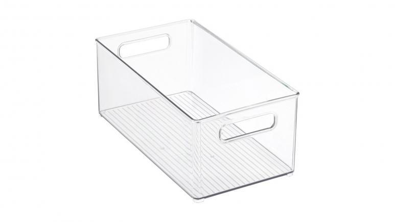 iDesign Clear Linus Deep Stackable Plastic Bin