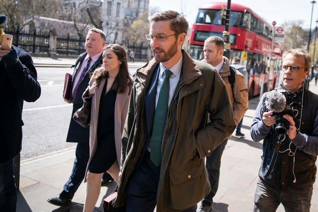 Simon Case, the Cabinet Secretary and the UK's most senior civil servant, walking to Portcullis House in Westminster to give evidence on the work of the Cabinet Office to the Commons Public Administration and Constitutional Affairs Committee