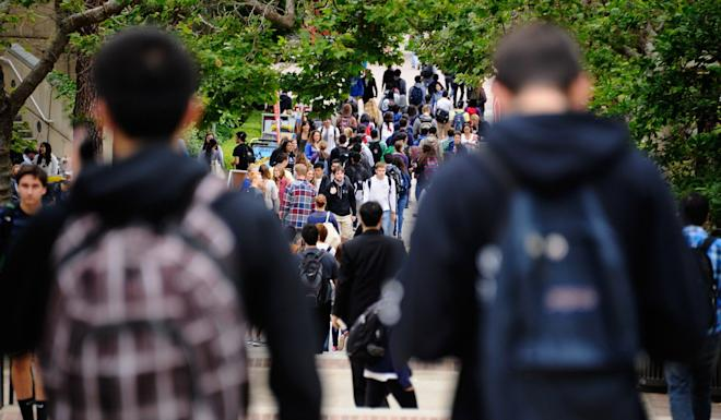 Students on campus at UCLA in Los Angeles, California. Some scholars in China have said their 10-year multiple-entry visas to the US had been revoked by US authorities without explanation. Photo: AFP