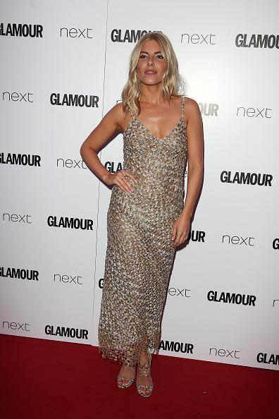 <p>The singer opted for a casual boho chic maxi dress and kept her make-up natural. <i>[Photo: Fred Duval/FilmMagic]</i></p>