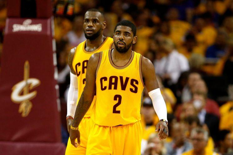 63aa9cd29c36 How will LeBron s impending free agency influence the Cavs  handling of Kyrie  Irving s trade request  (Getty)