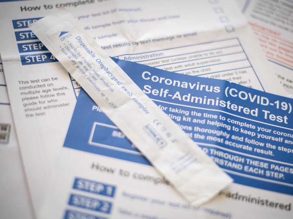 The public is being encouraged to take two rapid Covid tests a week (Getty Images)