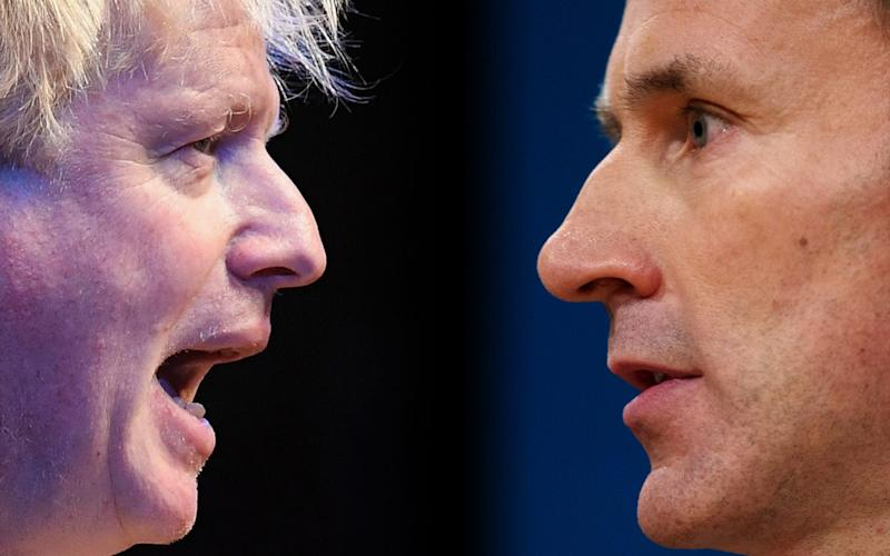 Boris Johnson and Jeremy Hunt are currently campaigning at Conservative Party hustings around the UK. - Getty Images
