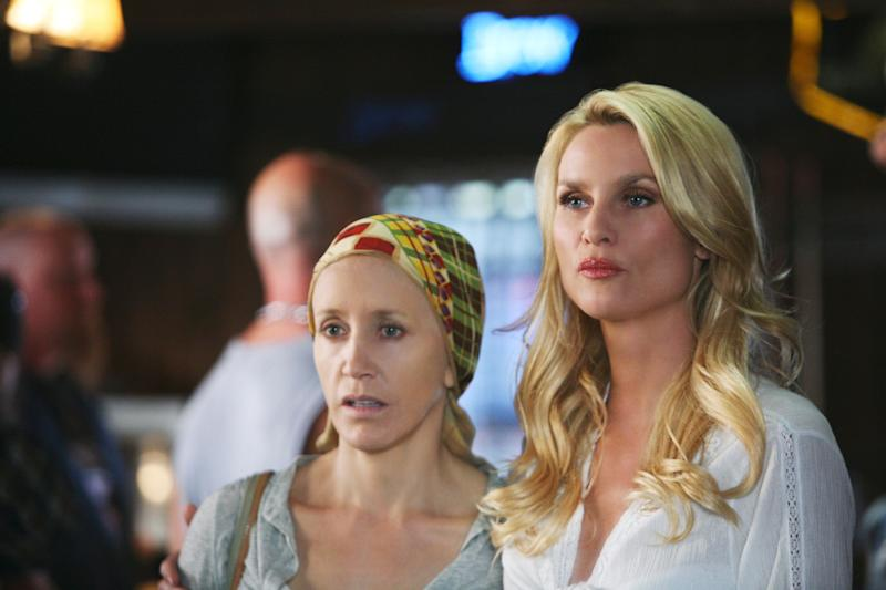 "Felicity Huffman and Nicolette Sheridan on ABC's ""Desperate Housewives.""  (Photo: Danny Feld via Getty Images)"