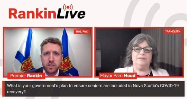 Yarmouth Mayor Pam Mood hosted a live online forum with Premier Iain Rankin Thursday night where he fielded questions about the provincial budget, which will be released this spring.