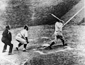 """<p><strong>May 6, 1915</strong>: A raw but talented young pitcher for the Boston Red Sox, George Herman """"Babe"""" Ruth, slugs a home run off of the New York Yankees' Jack Warhop in New York's Polo Grounds—the first home run of Ruth's major-league career, and the first of 714 for the player who would revolutionize and dominate baseball for the next 20 years. """"When Ruth hit 54 home runs in 1920, every other player in the American League combined hit only 315,"""" says Wallace. """"Just a few years later, everyone was hitting home runs—the Babe had ushered in the Lively Ball era."""" As the great sportswriter Damon Runyan put it after the game, """"He is now quite a demon pitcher and a demon hitter when he connects.""""<br> </p>"""