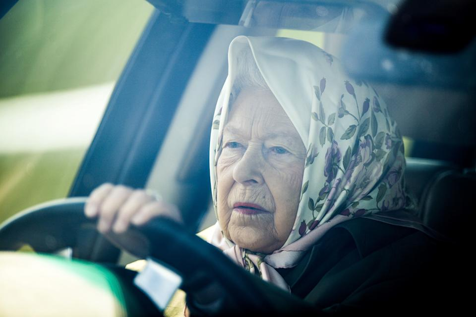 The Queen driving