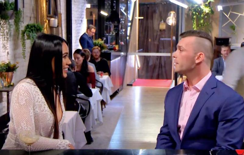 Jasmine's episode of First Dates is set to hit screens this week, and a teaser reveals she tells her date Ryan that her biggest regret is she