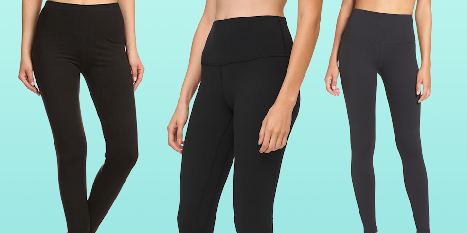 """<p>It's safe to say leggings are must-haves in your closet, but with so many styles to choose from (not to mention, a wide range of price points), it's hard to know which ones are <em>actually</em> worth the splurge. </p><p>The <a href=""""https://www.goodhousekeeping.com/institute/about-the-institute/a19748212/good-housekeeping-institute-product-reviews/"""" rel=""""nofollow noopener"""" target=""""_blank"""" data-ylk=""""slk:Good Housekeeping Institute"""" class=""""link rapid-noclick-resp"""">Good Housekeeping Institute</a> Textiles Lab tests leggings for things like durability, moisture management, comfort, and performance features, and our fashion editors weigh in with the most <a href=""""https://www.goodhousekeeping.com/clothing/g27206929/best-black-leggings/"""" rel=""""nofollow noopener"""" target=""""_blank"""" data-ylk=""""slk:stylish leggings for everyday wear"""" class=""""link rapid-noclick-resp"""">stylish leggings for everyday wear</a> to find the best, longest-lasting, and most comfortable leggings out there. When you're shopping for leggings, consider when you'll be wearing them. Here's what to keep in mind:</p><ul><li><strong><a href=""""http://www.goodhousekeeping.com/health-products/g4042/best-workout-leggings/"""" rel=""""nofollow noopener"""" target=""""_blank"""" data-ylk=""""slk:Workout leggings"""" class=""""link rapid-noclick-resp"""">Workout leggings</a></strong>: Synthetic performance fabrics (like polyester or nylon) are ideal for workout leggings because they are stretchy, durable, opaque, and often moisture-wicking to help manage sweat. Look for flat interior seams to prevent irritation and friction.</li><li><strong>Leggings to wear as pants:</strong> You can wear leggings as pants or even to work if they're made of thicker fabric like ponte and faux leather. To make sure fabric isn't see-through, try the leggings in natural daylight or under a bright light. Bend over in front of a mirror or check for show-through by deeply bending your knee. </li><li><strong><a href=""""https://www.goodhousekeeping.com/clothing/g32006182/bes"""