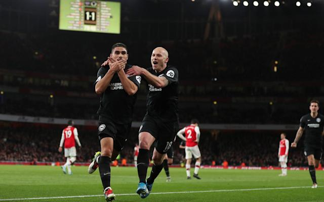 Neal Maupay scored the winner for Brighton with 10 minutes remaining - Getty Images Europe