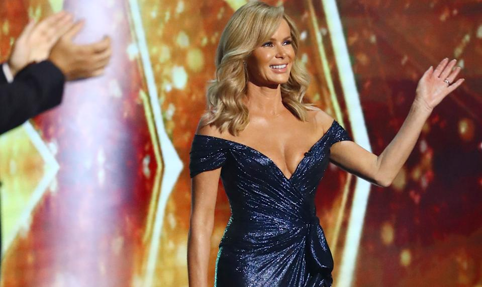 Amanda Holden laughed off claims her dress revealed her nipples. (Syco/Thames/ITV)